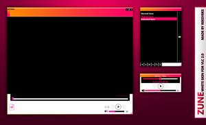 Zune White 2.0 for VLC by ReksVeks