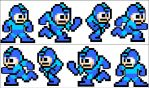 Megaman Running Sprites by Cobalt-Blue-Knight