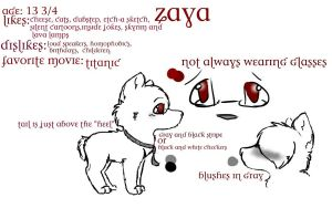 Zaya Referance by XMistyFireX