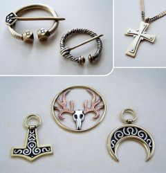 Mixed metal jewelry 6 by Astalo