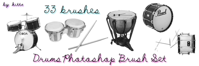 Drum Brushes for PhotoshopCS3 by punkdoutkittn