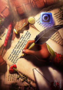 The Writer by DeridiasDesigns