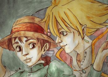 Howl's moving castle painting by Soukyan