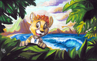 Between the jungle and the beach by pandapaco