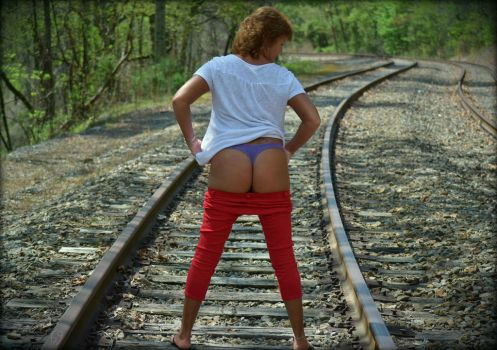 American Railroad (Red, White and Blue) by OurTime6to9