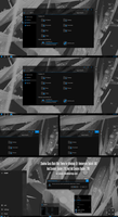 Shadow Black Glass Blue Theme Win10 Fall Creators by Cleodesktop