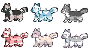 OPEN 1/6- Feral Adopts by Jessie-Adopts