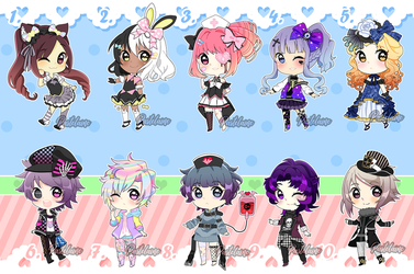 Harajuku Fashion SuperSale Adoptables (10/10 OPEN) by pastelaine-art