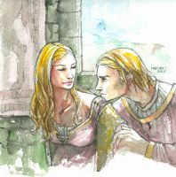 Cersei and Jaime by martinacecilia