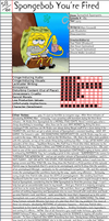 Spongebob You're Fired Notepage by Duckyworth