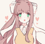 Fanart- Kawaii Monika by bunbby