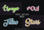 Text Styles #03 by lune-blanche