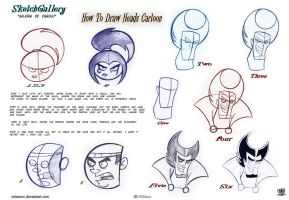 How to draw Cartoon head by celaoxxx