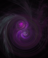 Colliding Purple Galaxys. by GoateeGuy