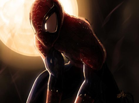 spidey speedpaint by vashperado