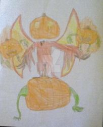 The Vampire Pumpkin(Drawing) #Flyingpingsdrawmyoc by xXxx420xxXx