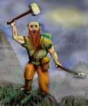 dwarf warrior by jh108