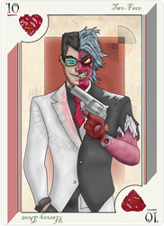 playing card Two-Face by JayMaverick