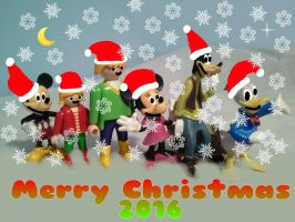 The Mickey Gang says Merry (LATE) Christmas 2016 by TrainboysArtwork