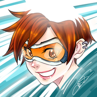 Overwatch - Tracer portrait by taitsujin