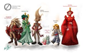 Oz Character Design by nuriaabajo