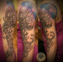 jellyfish art nouveau by 2Face-Tattoo