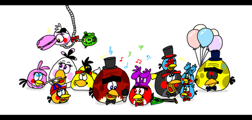Five Nights at Terence's - The Birdamatronics by AngryBirdsStuff
