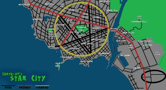 [Earth-27 for Nitwits] Map of Star City - WIP by Roysovitch