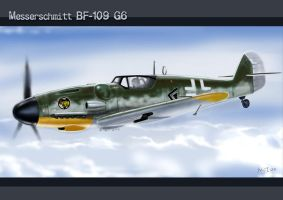 Messerschmitt Bf109-G6 by KinkyInks