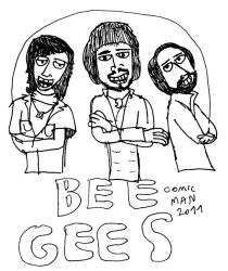 Bee Gees by 666comicman1996