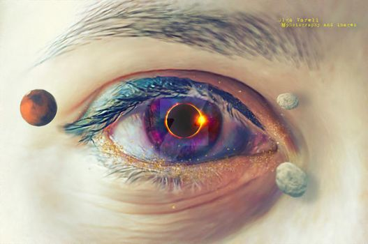 total eclipse of my eye by OlgaBee