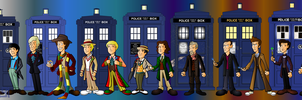 The 13 doctors line up by CPD-91