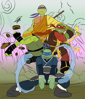 TMNT-ATLA Crossover | Turtles' Poster by Redworld96