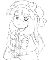 Patchouli Anime sketch by Coffgirl