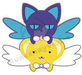 Kero-Chan and  Suppi by UncannyViolet