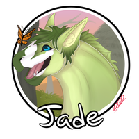 [CP] Jade: Headshot for WhimsicalCrystal by WoollyWolfie