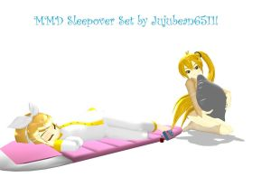 MMD Sleepover Accessory Set by Jujubean6511 by Party-P