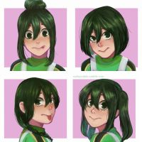 Tsuyu Different Hair by NadiaSyahda