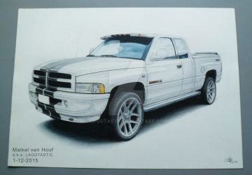 Dodge Ram 1500 drawing by Laggtastic
