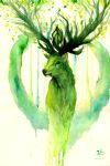 deer - spirit of the Forest by zarielcharoitite