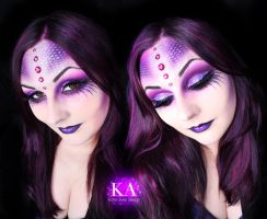 Sea Witch Halloween Makeup w/ Tutorial by KatieAlves