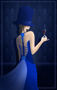 The Lady In Dark Blue by TiniestTinsel