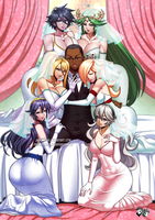 COMMISSION: Smash Girls Harem by jadenkaiba