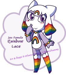 Rainbow Lace Keronian Adoptable (OPEN) by Atlanta-Hammy