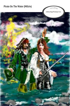 pirates of the caribbean Johnny Depp penelope Cruz by MiGrie