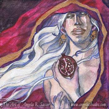 Mini Painting - Persephone's Lament by AngelaSasser