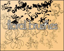 ElegantRetro Photoshop Brushes by IkilledMyElegance