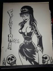 Elvira inktober 14 by somechick73