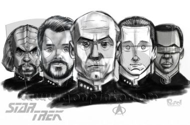 Star Trek:Next Generation Sketch by jonpinto