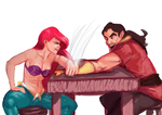 Ariel vs gaston by jadenwithwings